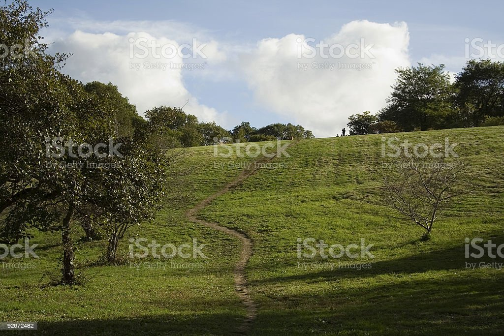 Path up Hill stock photo
