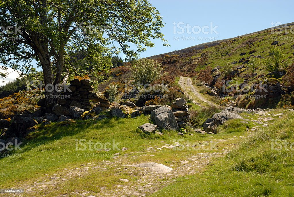 Path up the mountain royalty-free stock photo
