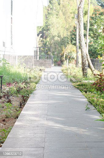 path way in the resort facility with nature situation