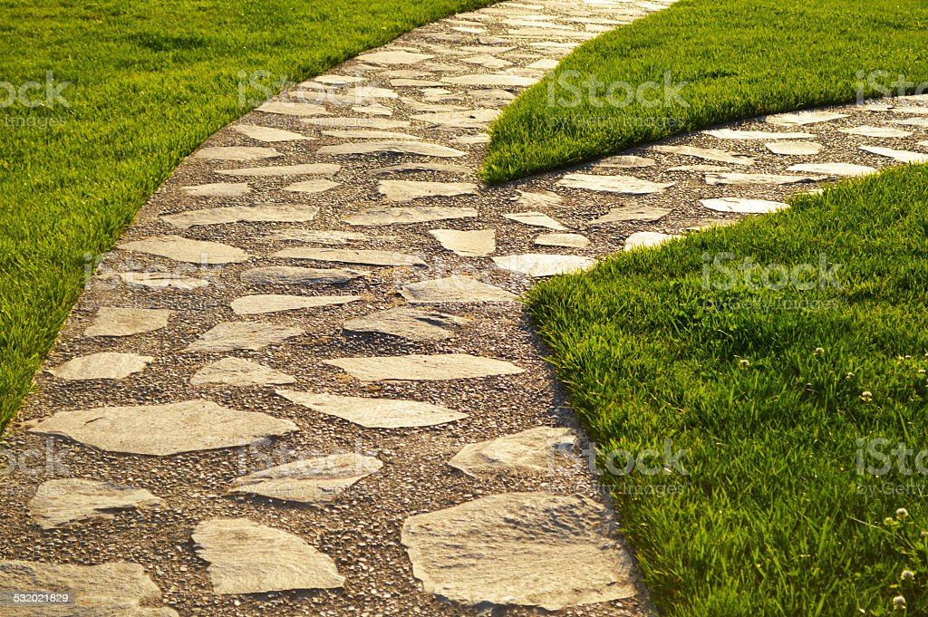 Path with a detour royalty-free stock photo