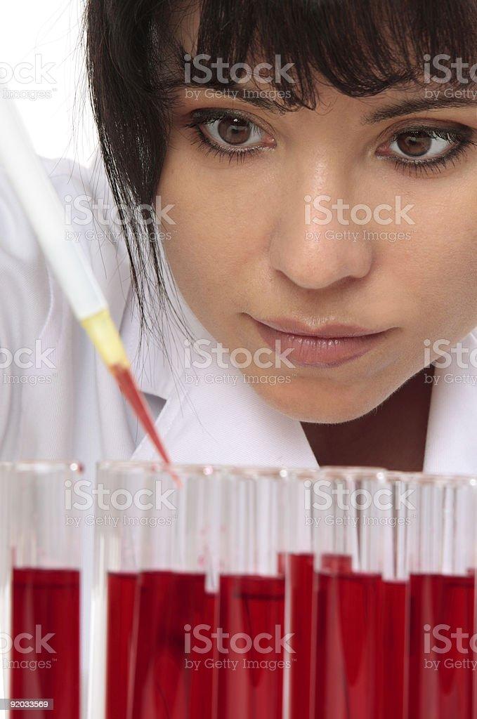 Pathologist takes sample for testing royalty-free stock photo