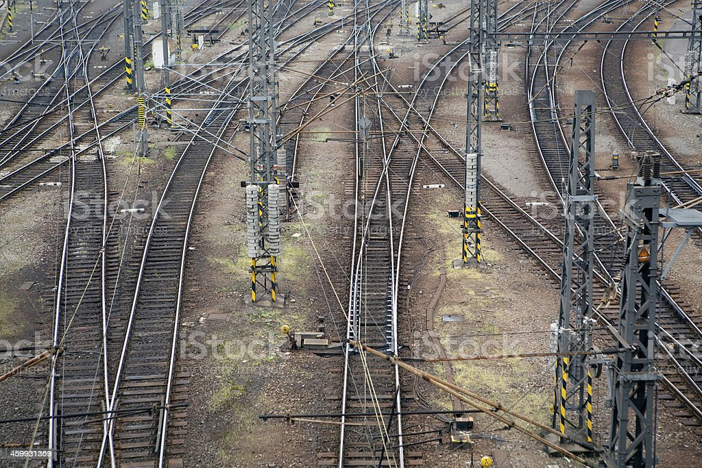 Paths of railways royalty-free stock photo