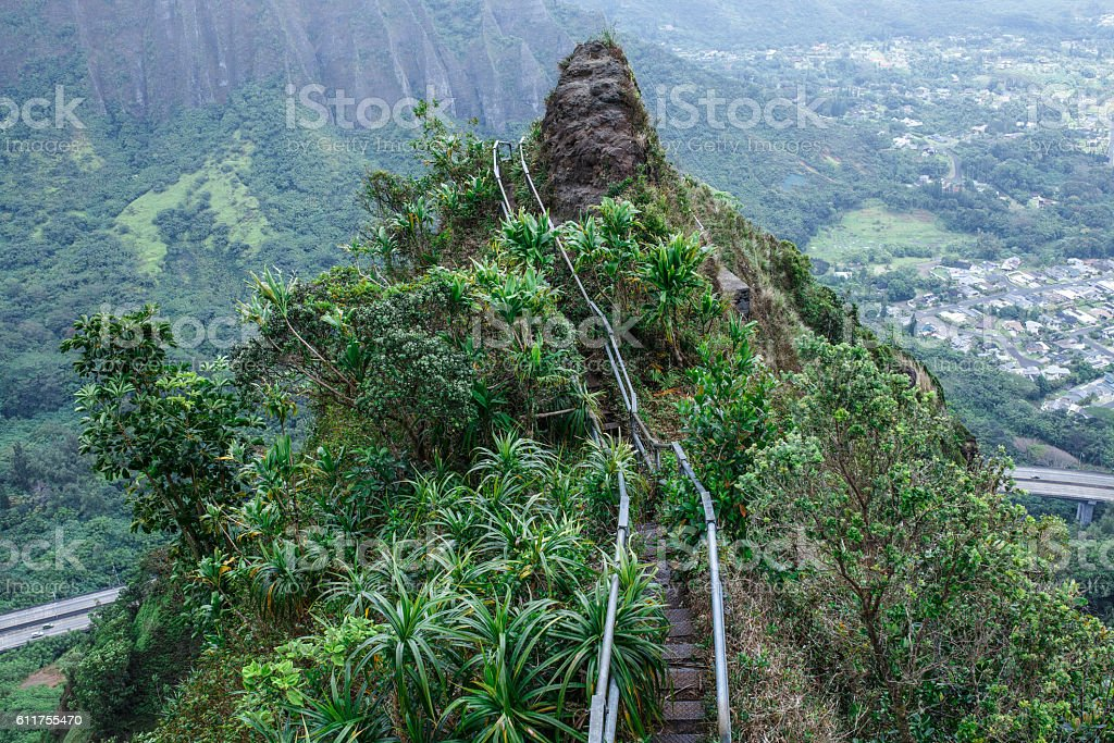Paths to the Pinnacle (Stairway to Heaven) stock photo