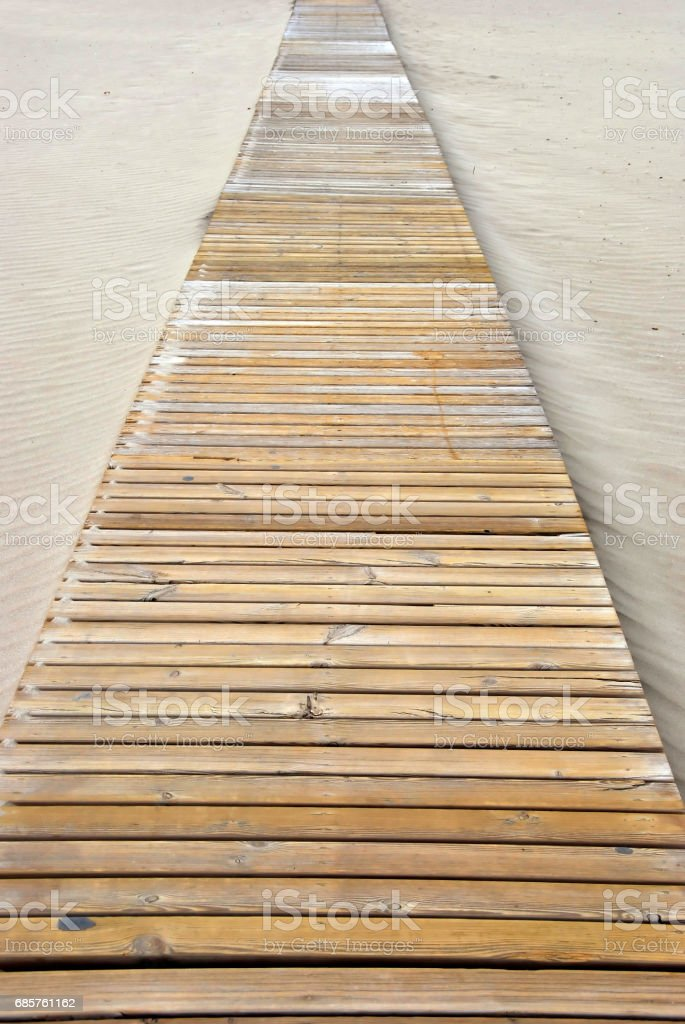 pathway on the beach foto stock royalty-free