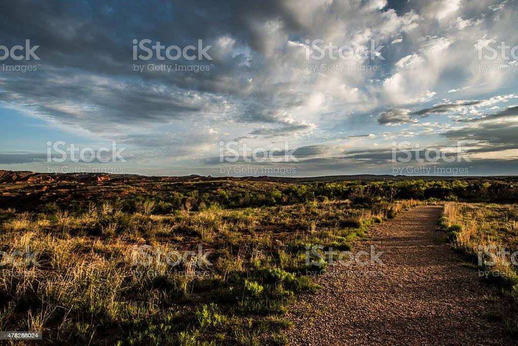 Pathway through Caprock Canyon stock photo