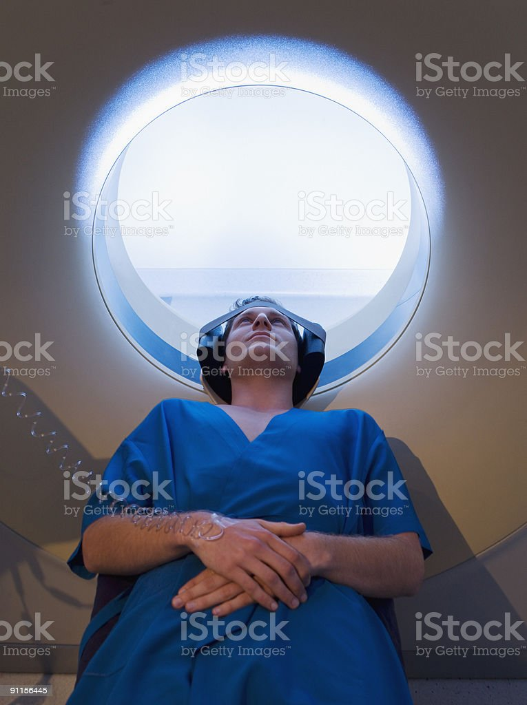 Patient about to have MRI examination royalty-free stock photo