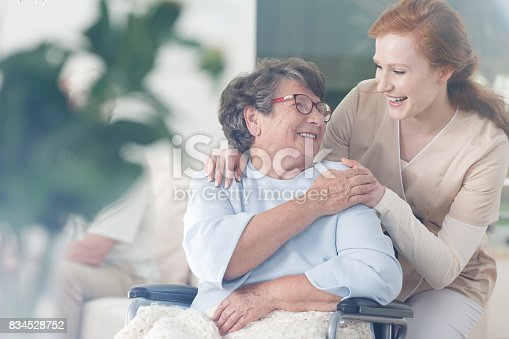 istock Patient and caregiver spend time together 834528752