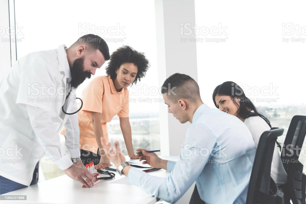 Patient Discussing About Fertility Method With Doctor Stock Photo Download Image Now Istock