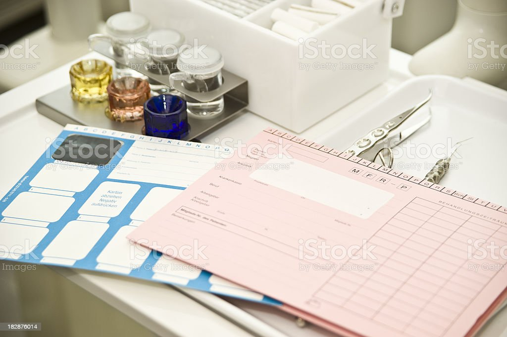 patient documents - Patientenakte royalty-free stock photo