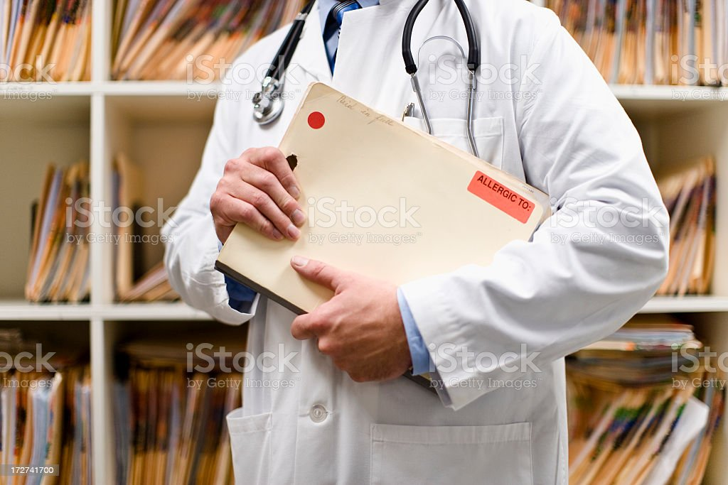Patient files royalty-free stock photo