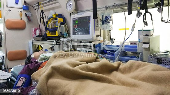 istock Patient in ambulance 938923610