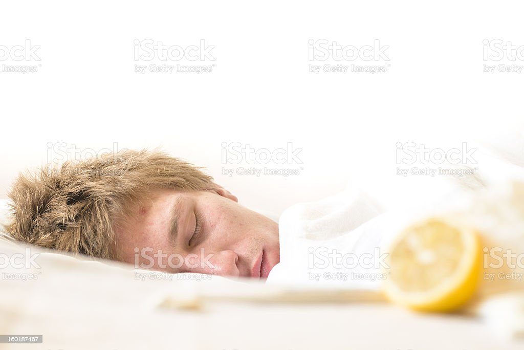 Patient in bed royalty-free stock photo