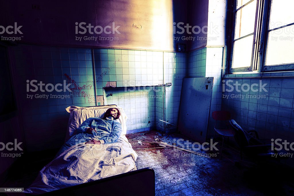 Patient looking for hope royalty-free stock photo