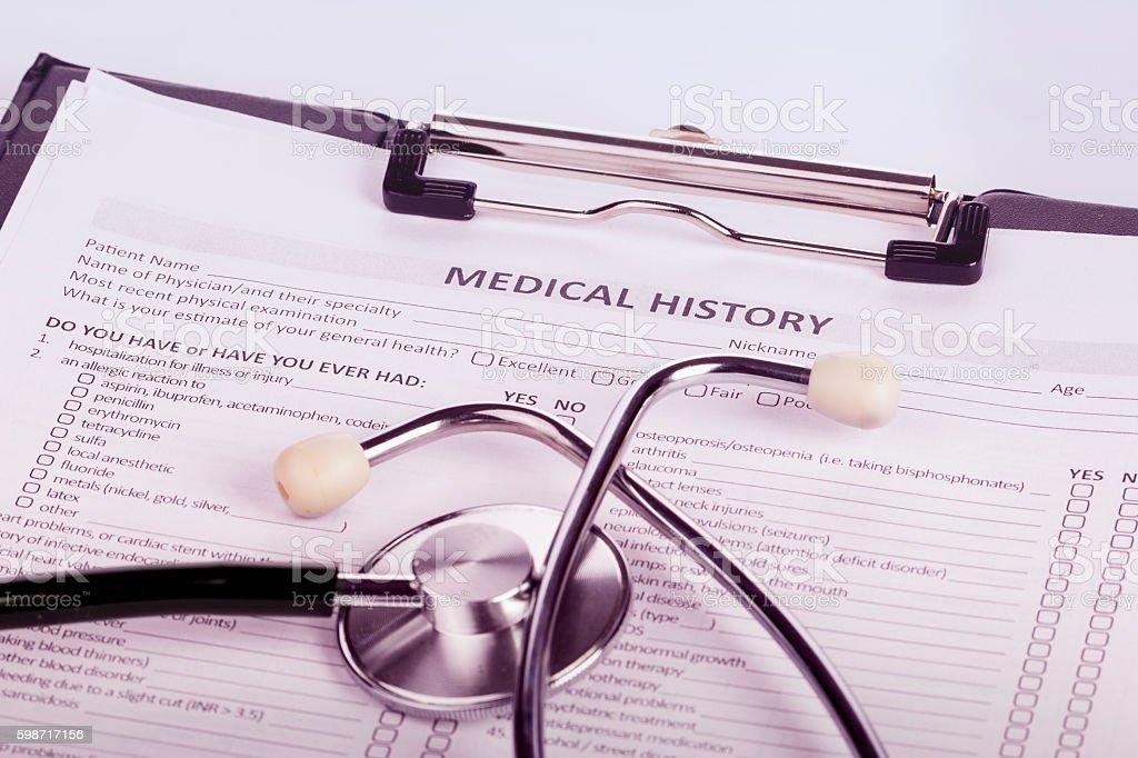 Histórico médico do paciente - foto de acervo