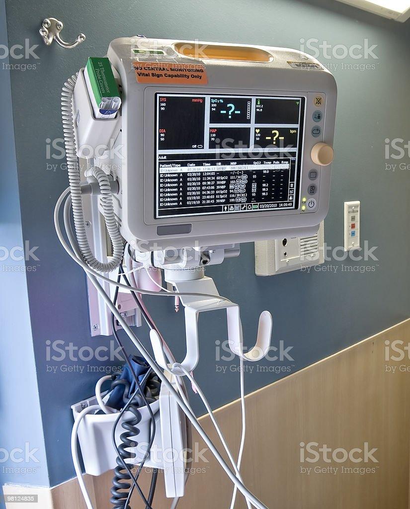 Il paziente monitoraggio foto stock royalty-free