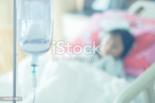 1127202747istockphoto patient on bed at saline solution at hospital blurry background 1045913672