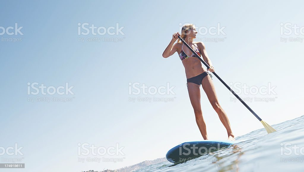 Patient paddler stock photo