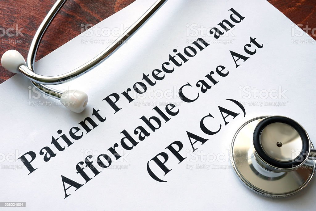 Patient Protection and Affordable Care Act PPACA stock photo