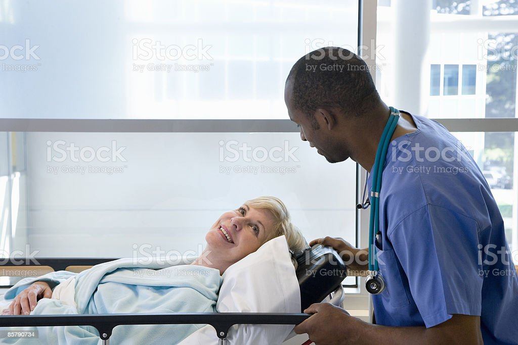 Patient Smiling At Doctor royalty-free stock photo