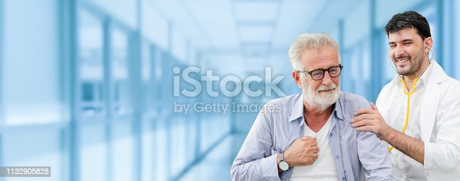 1064843136istockphoto Patient visits doctor at the hospital. Concept of medical healthcare and doctor staff service. 1132905825