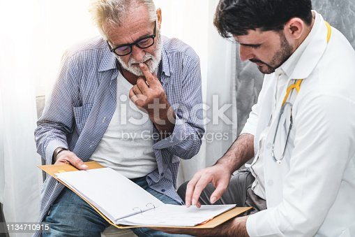 1064843136 istock photo Patient visits doctor at the hospital. Concept of medical healthcare and doctor staff service. 1134710915