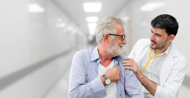 patient visits doctor at the hospital. concept of medical healthcare and doctor staff service. - inpatient stock pictures, royalty-free photos & images