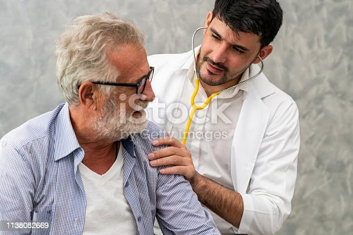 istock Patient visits doctor at the hospital. Concept of medical healthcare and doctor staff service. 1138082669