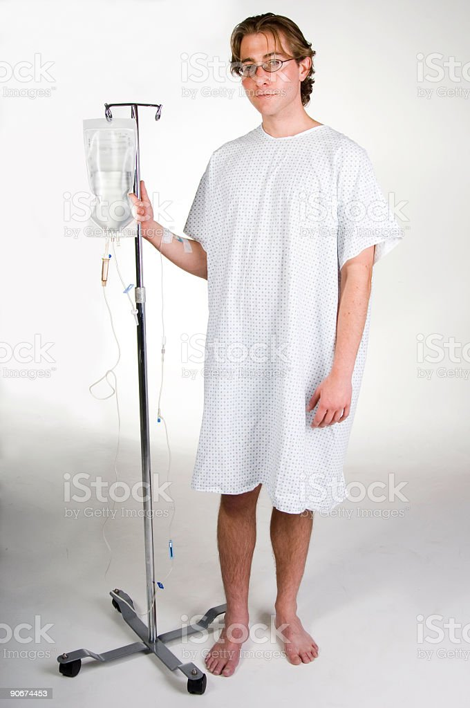 Patient with IV stock photo