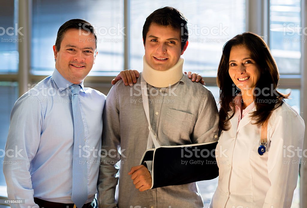 Patient with medical insurance stock photo