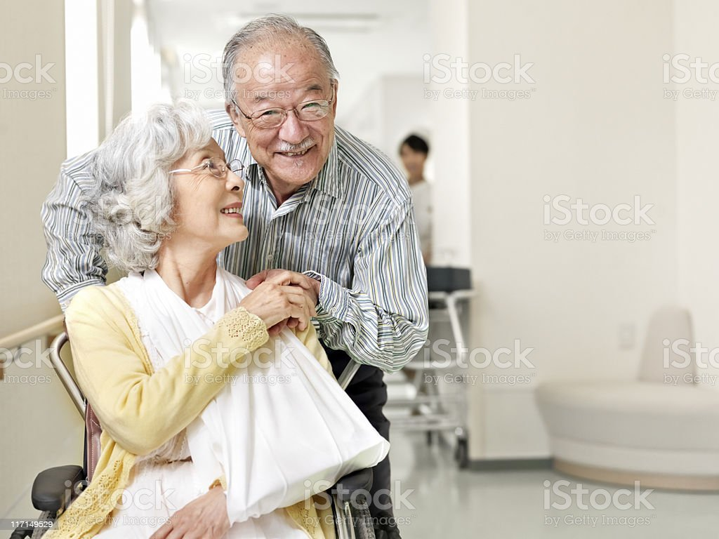 Patients in hospital stock photo