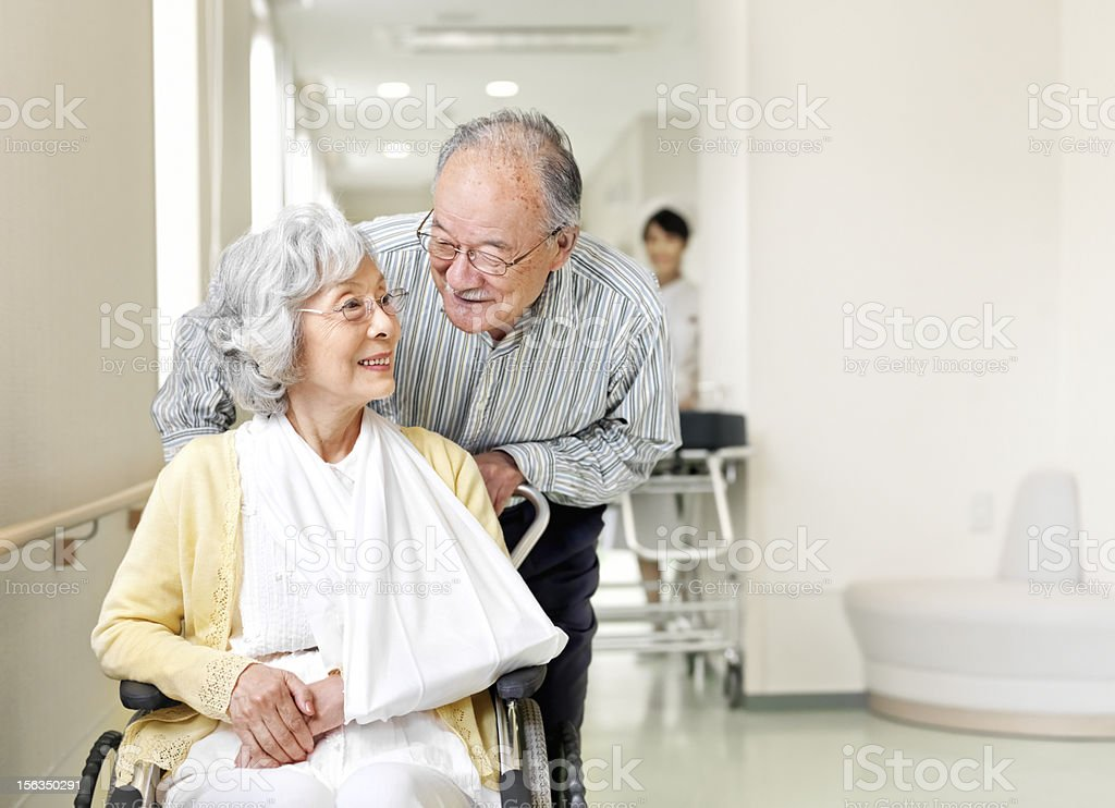 Patients in hospital royalty-free stock photo
