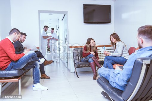 Patients Waiting For a Dentist Appointment