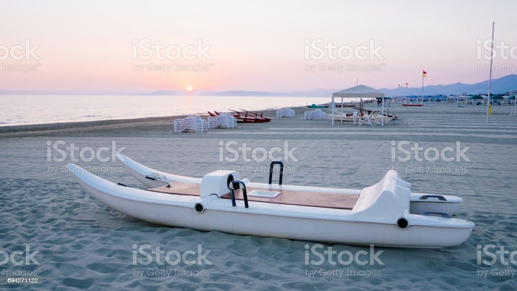patino,italian typoical summer boat stock photo