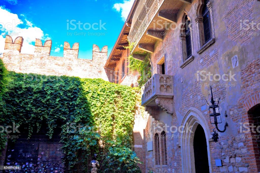 Terrasse Und Balkon Von Romeo Und Julia Haus In Verona Region