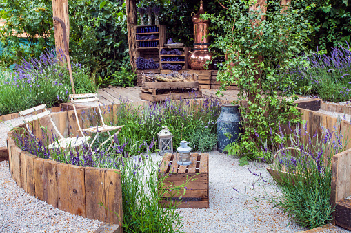 Patio area in a garden