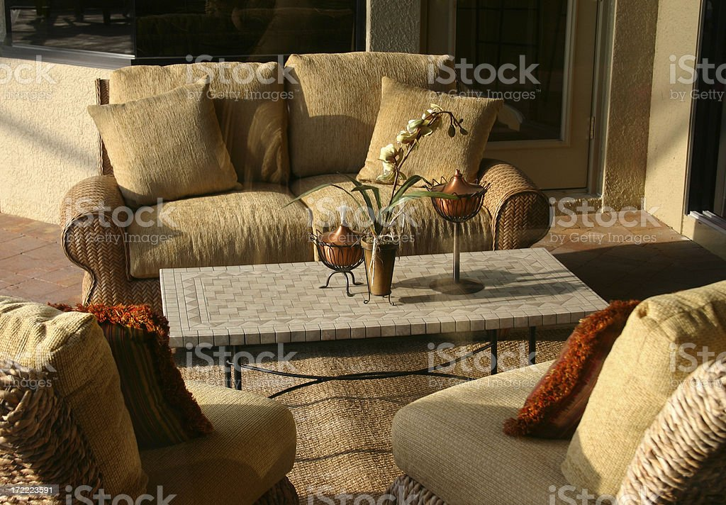 Patio at Sunset royalty-free stock photo