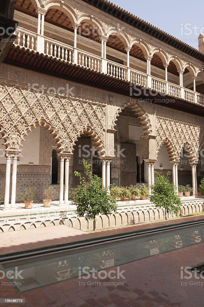 Patio de las Doncellas in Sevilla stock photo