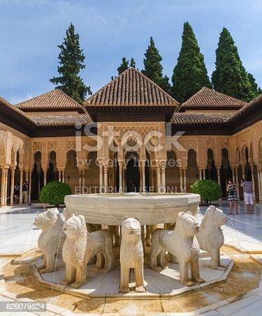 istock Patio de los leones in alhambra granada 626079524