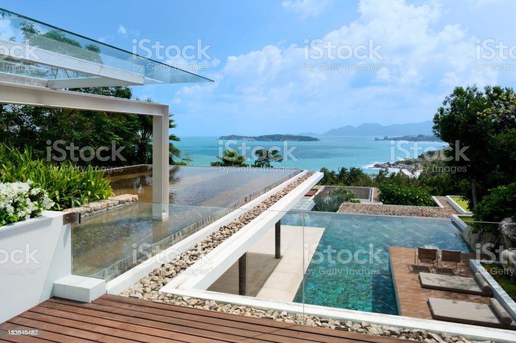 Patio Deck stock photo