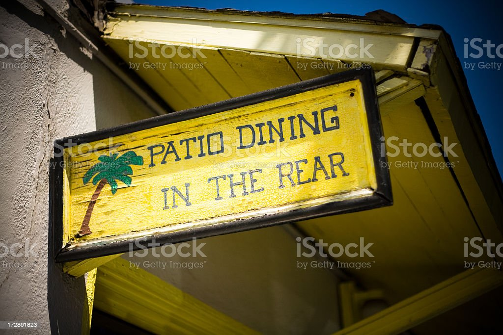 patio dining sign royalty-free stock photo