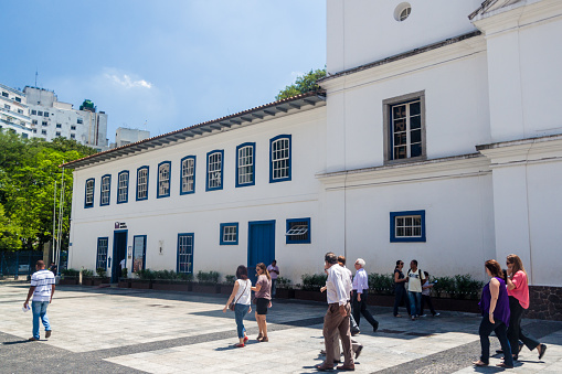 Patio do Colegio (School Yard), the place where th city Sao Paulo was founded.