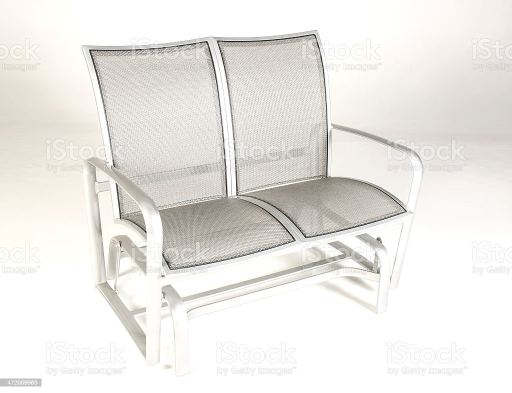 Patio Furniture Modern Aluminum Rocking Lounge Chair royalty-free stock photo