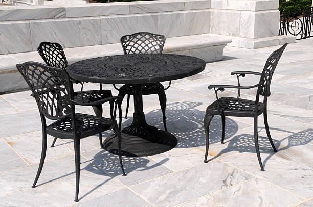 Patio furniture stock photo