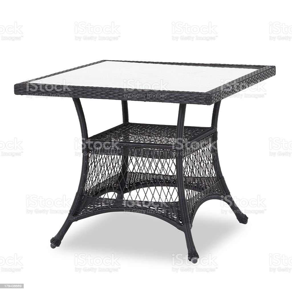 Patio Glass Top Wicker Dining Table Stock Photo Download Image Now Istock