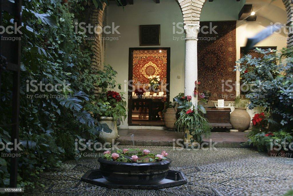 Patio in Córdoba stock photo