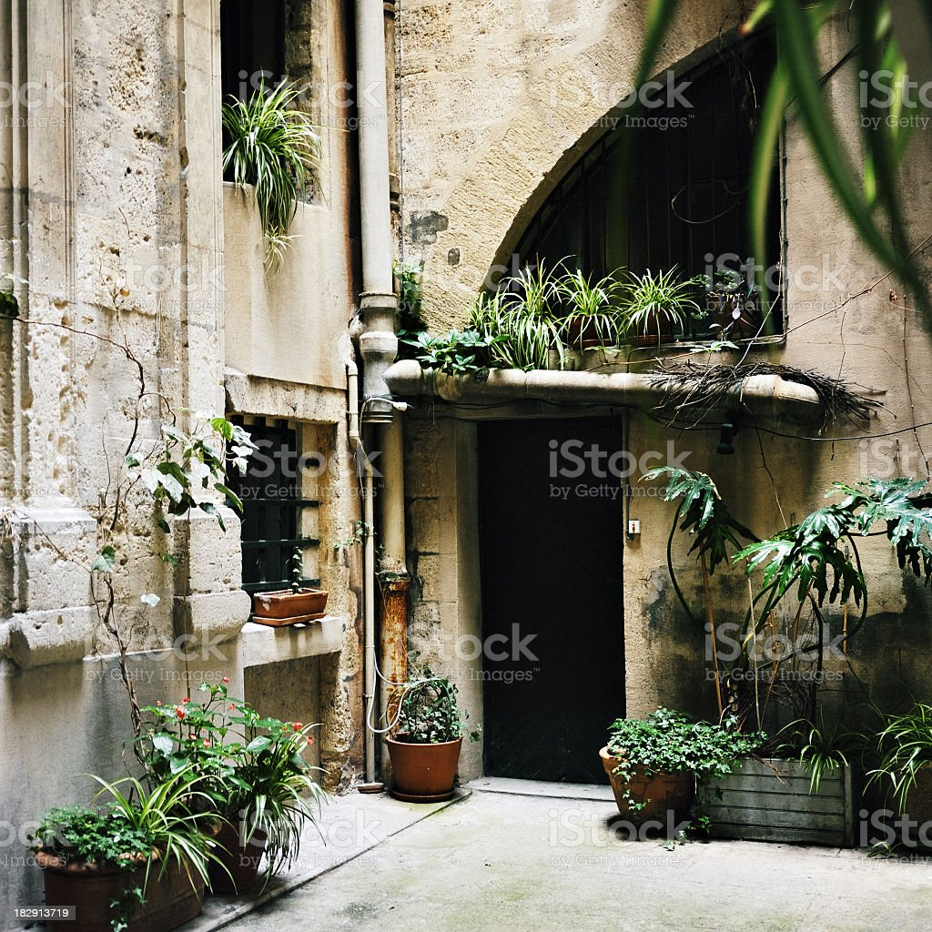 Patio in Montpellier royalty-free stock photo