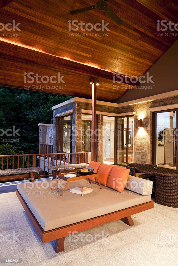 patio luxury villa phuket thailand royalty-free stock photo