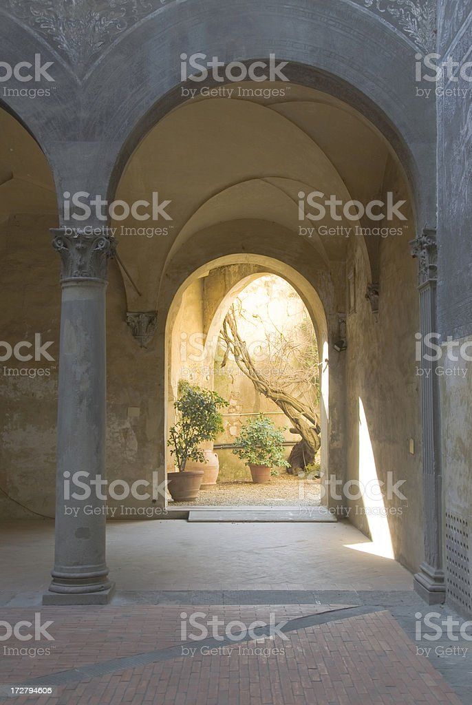 Patio of an Old Italian Mansion royalty-free stock photo