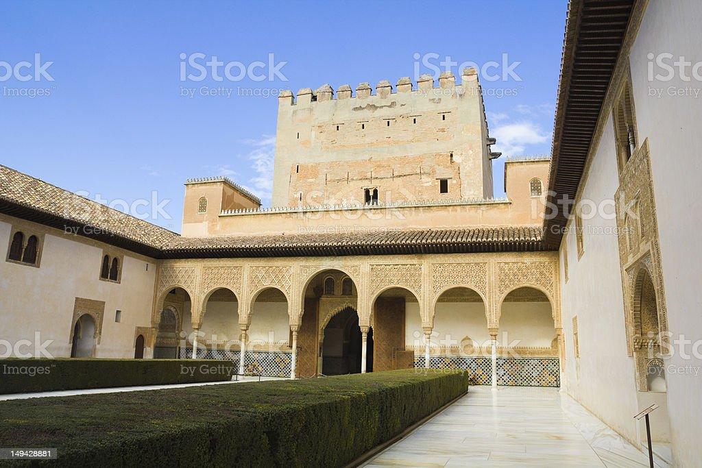 Patio of Arrayanes, Alhambra, Granada, Spain royalty-free stock photo
