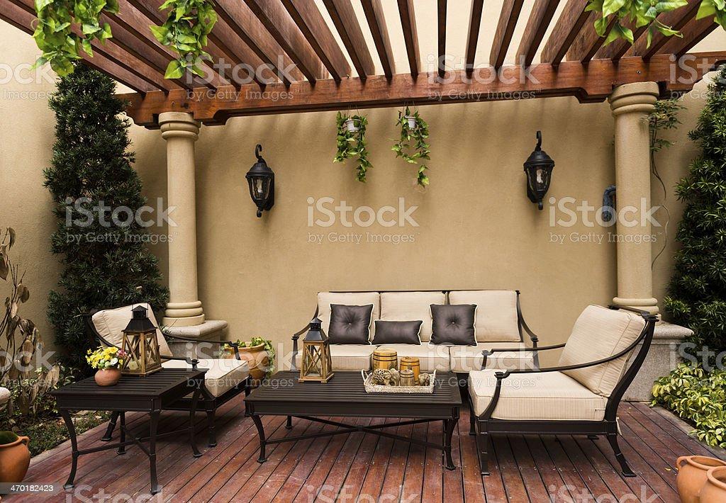 patio stock photo